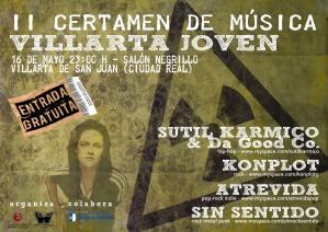 Atrevida en directo en el II Certamen de Música Villarta Joven